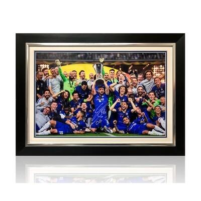 Olivier Giroud Europa League Trophy Signed Print