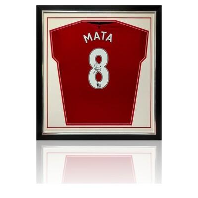 Juan Mata Signed & Framed Manchester United Shirt