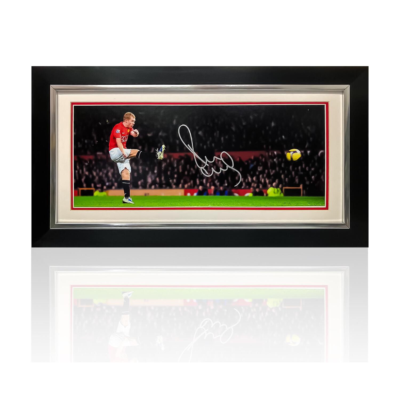 Paul Scholes Signed & Framed Print