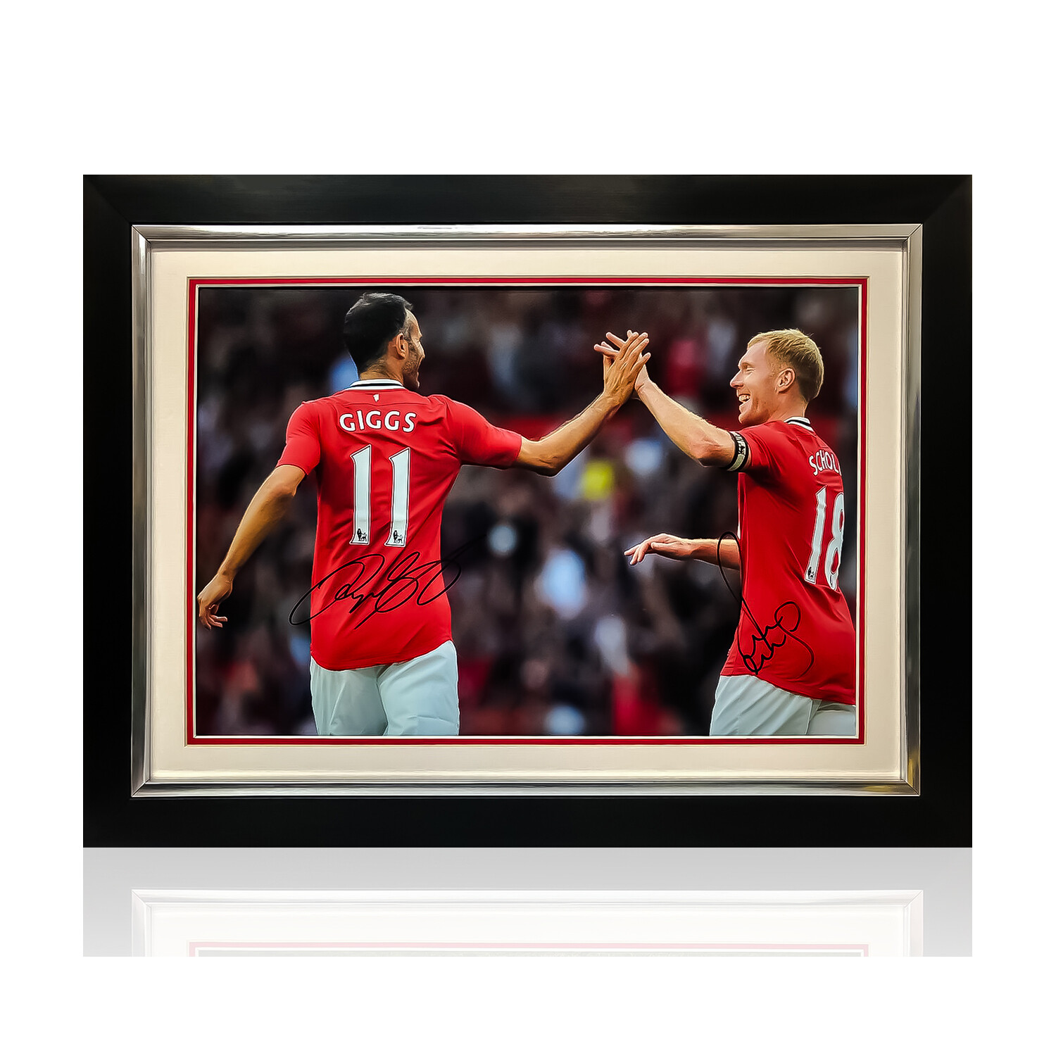 Giggs and Scholes Signed & Framed Print