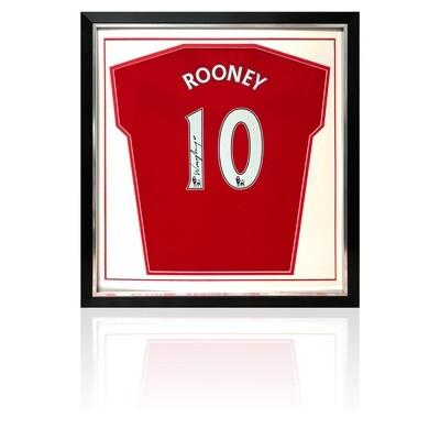Wayne Rooney Signed & Framed Manchester United Shirt