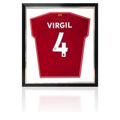 Virgil Van Dijk Signed & Framed Liverpool FC Shirt