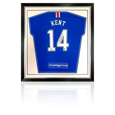 Ryan Kent Signed & Framed Rangers Home Shirt