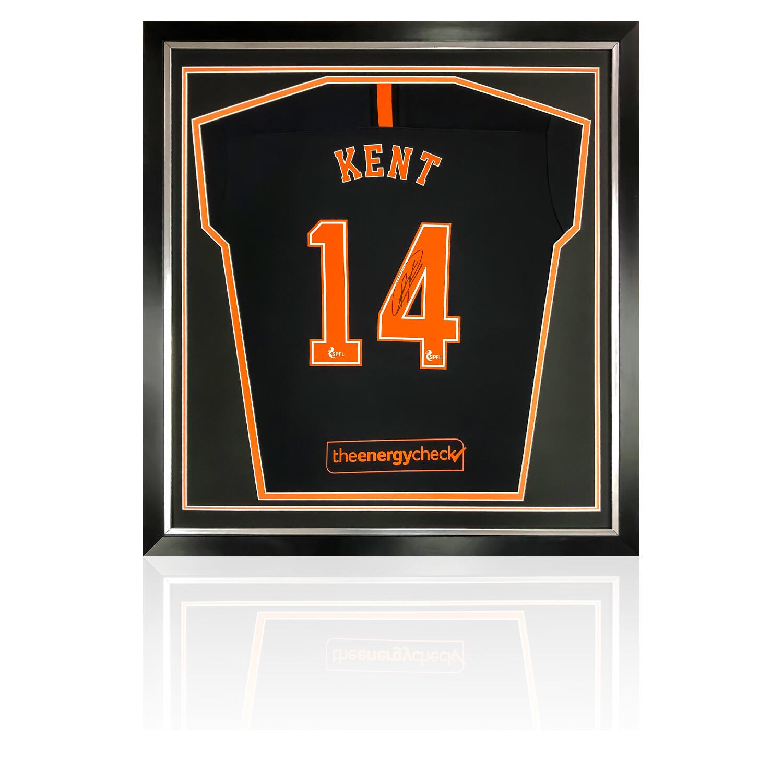 Ryan Kent Signed & Framed Rangers Away Shirt