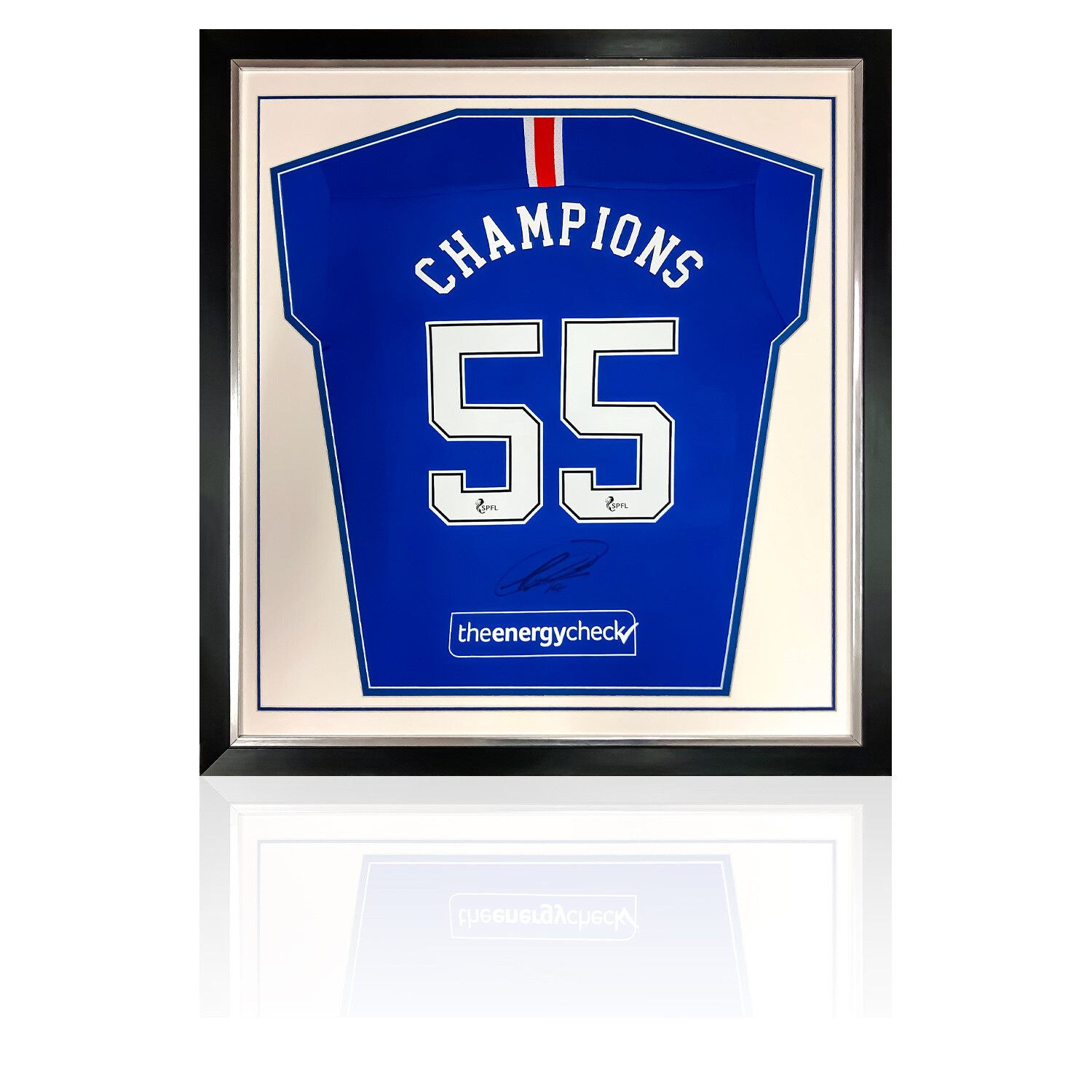 Rangers Champions 55 Signed by Ryan Kent