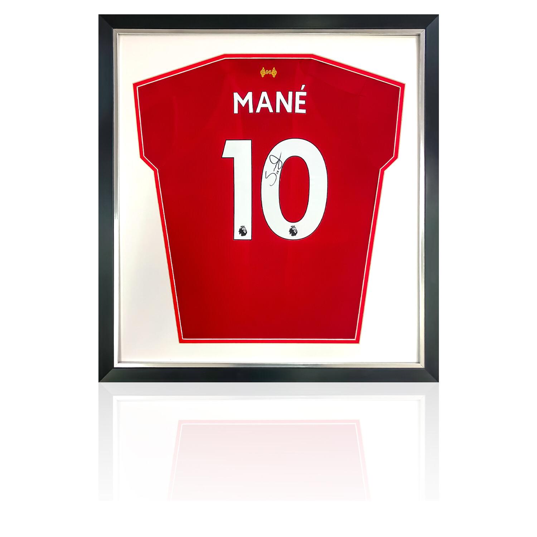 Sadio Mane Signed & Framed Liverpool FC Shirt