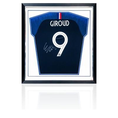 Olivier Giroud Signed & Framed France World Cup Shirt