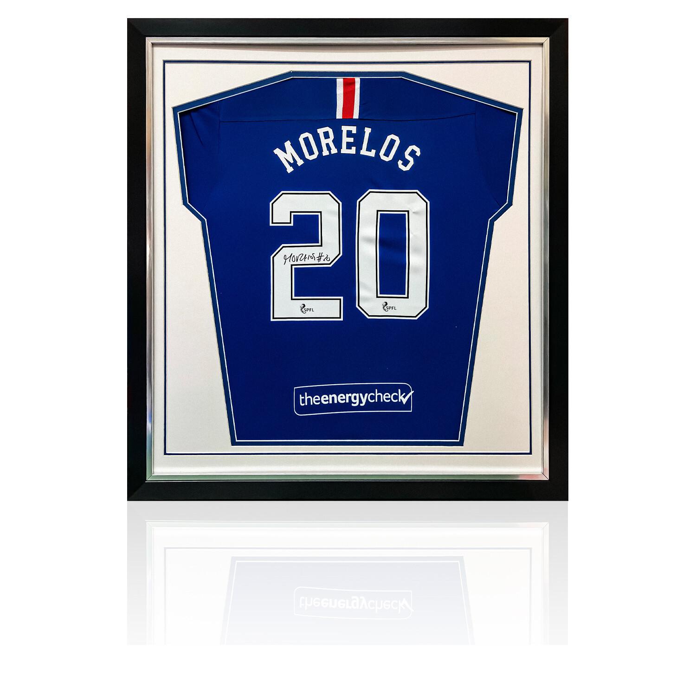 Alfredo Morelos Signed Rangers Home Shirt