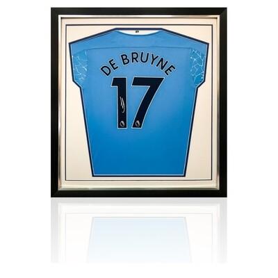 Kevin De Bruyne Signed & Framed Manchester City Shirt