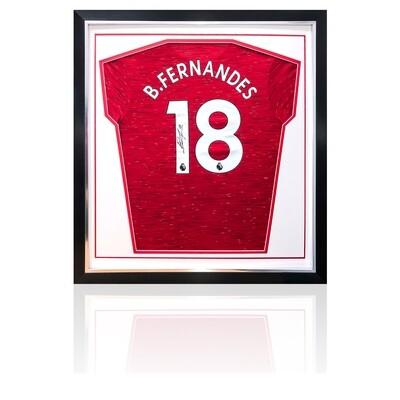 Bruno Fernandes Signed Manchester United Home Shirt