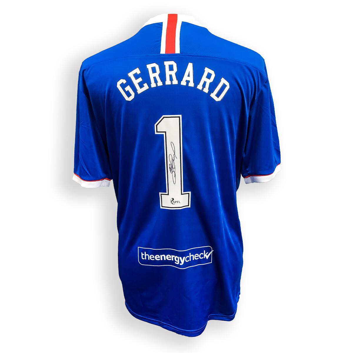 Steven Gerrard Signed Rangers  Shirt