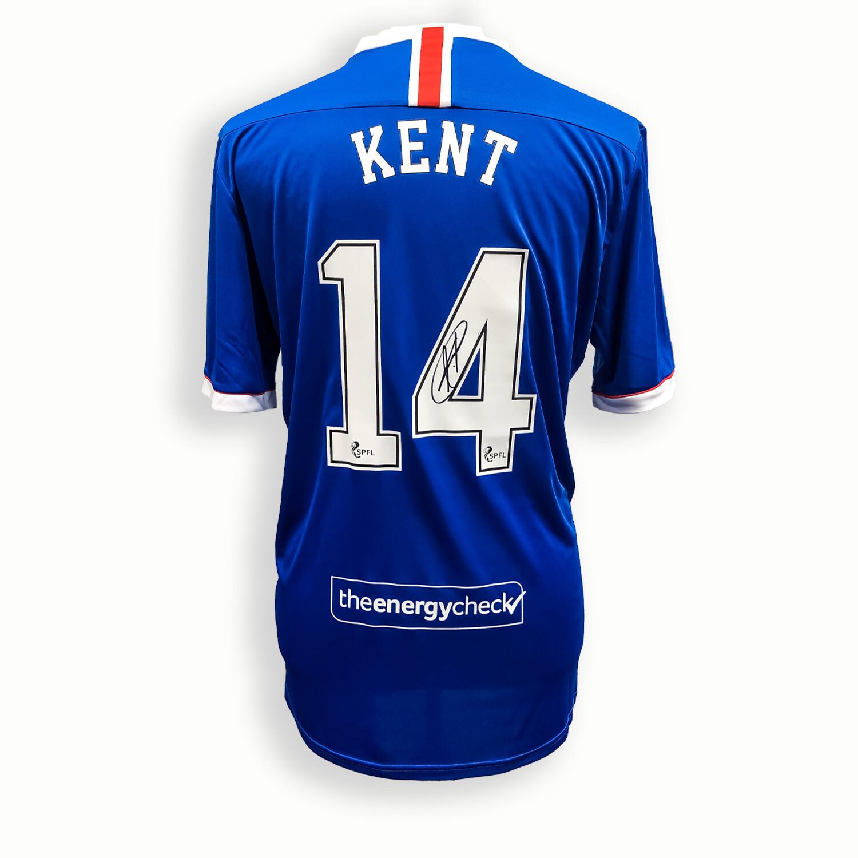 Ryan Kent Signed Rangers Home Shirt