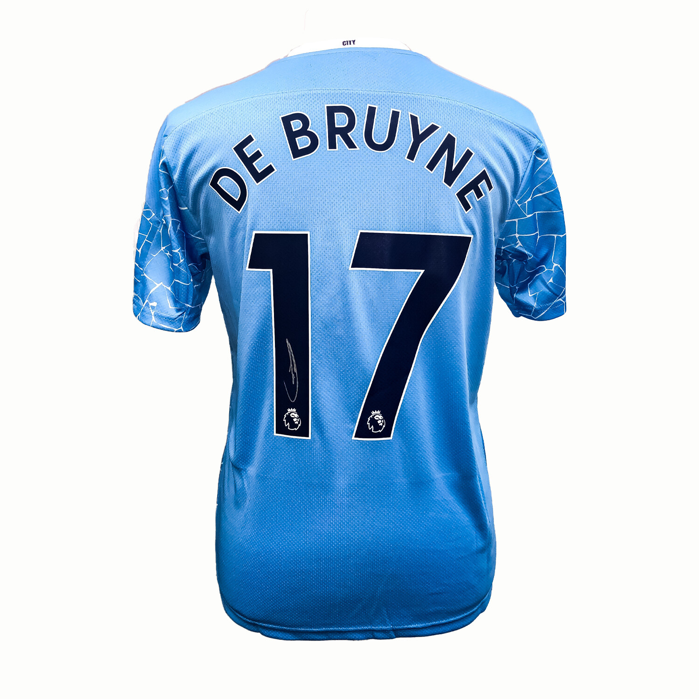 Kevin De Bruyne Signed Manchester City Home Shirt