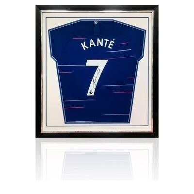 N'Golo Kante Signed & Framed Chelsea 2018/19 Shirt