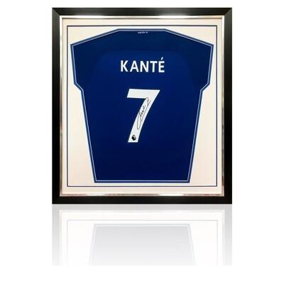 N'Golo Kante Signed & Framed Chelsea 2017/18 Shirt