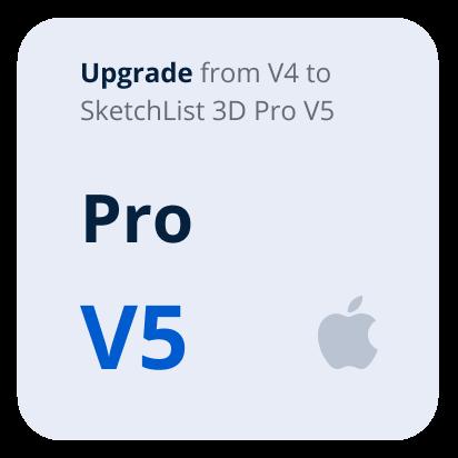 Upgrade V4 Pro to V5 Pro SketchList 3D - Mac