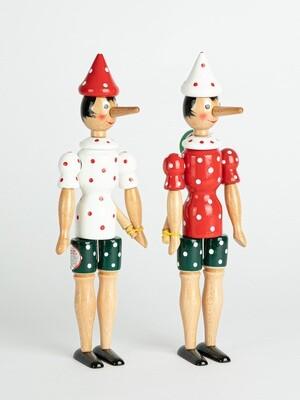Pinocchio à pois, 24 cm