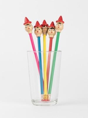 Crayons avec tête de Pinocchio
