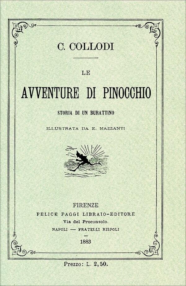 Livre : Les aventures de Pinocchio, en italien