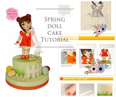 Spring Doll Cake Ebook  Tutorial