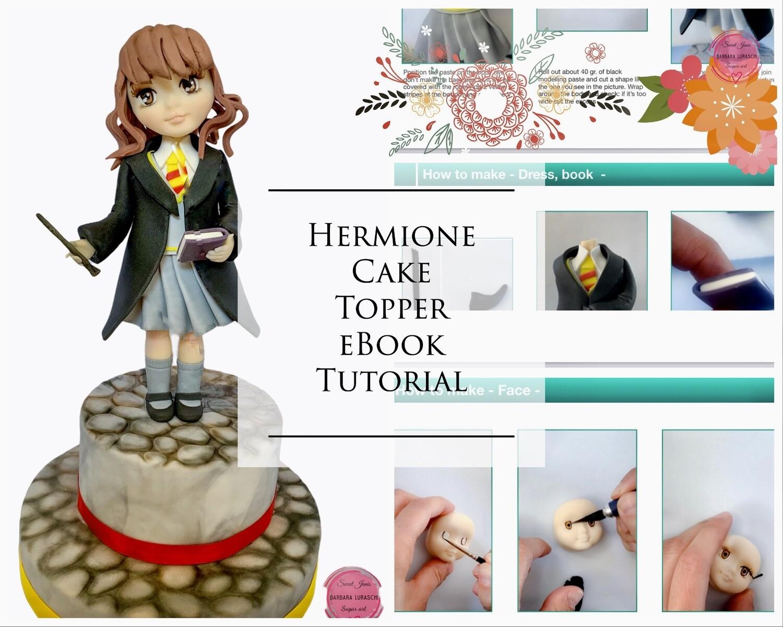 Hermione cake topper tutorial