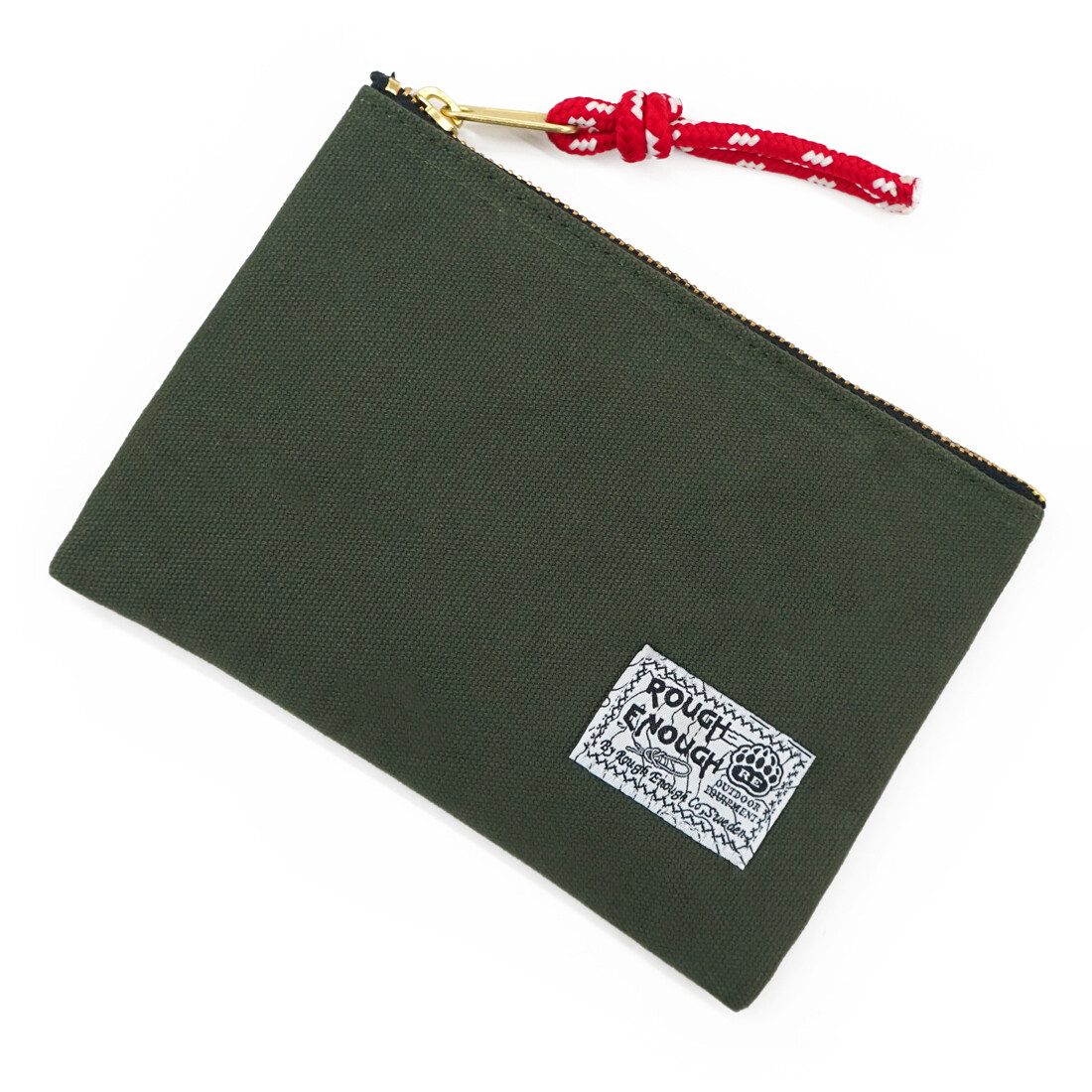 RE8289 Canvas Zipper EDC Pouch Wallet Purse Organizer Insert Bag