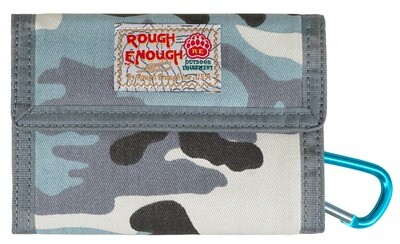 RE8268 Boys Wallet with Camo Canvas Zipper Keychain for Kids