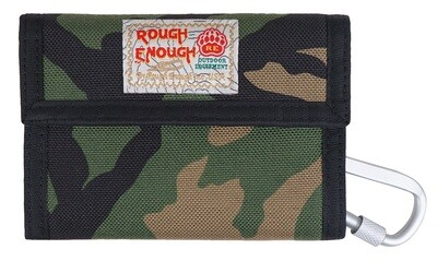 RE8346 Camo Kids Wallet Canvas with Zipper Credit Card Holder