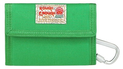 Rough Enough Boys Wallet with Green Canvas Zipper Keychain for Men