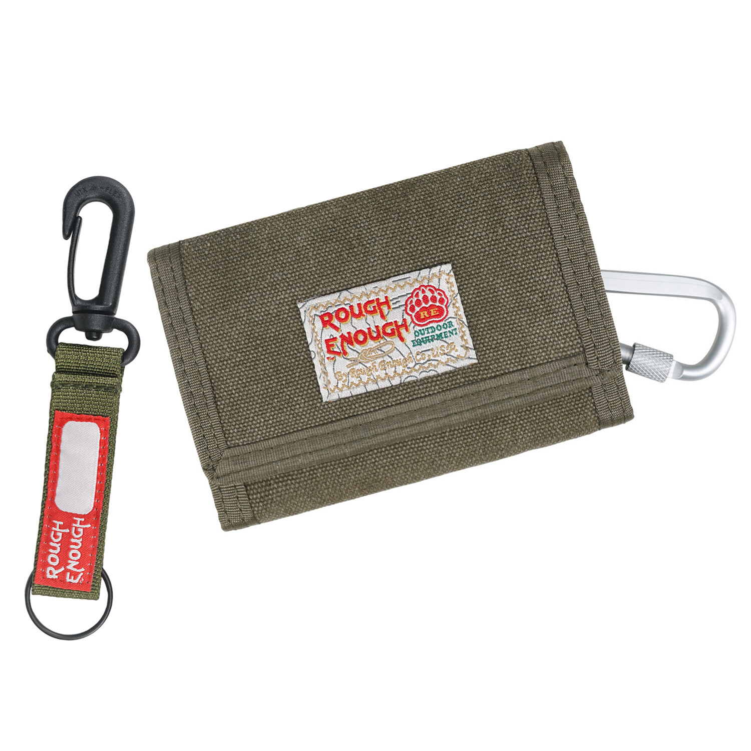 RE8005 Small Canvas Card Front Wallet with Zipper Pockets