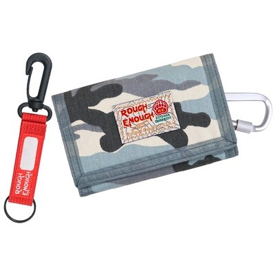 RE8304 Light Blue Camo Canvas Kids Wallet