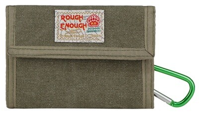 Rough Enough Portable Canvas Trifold Wallet