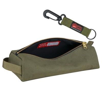 Rough Enough Canvas Small Tool Bag Zipper Multi Tools Pouch Big Pencil Case