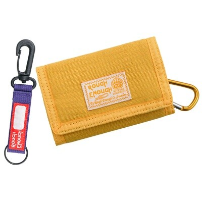 RE8448 Small Yellow Canvas Card Boys Wallet