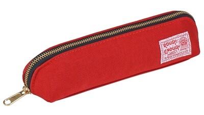 Rough Enough Cute Red Long Slim Pencil Case for Girls Art Supplies