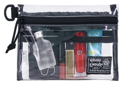 RE8474 TSA Approved Clear Toiletry Bag Stadium Purse Organizer