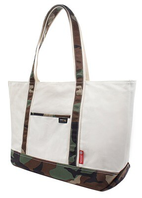 RE8021 Large Heavy Duty Blank Camo Travel Canvas Tote Bag