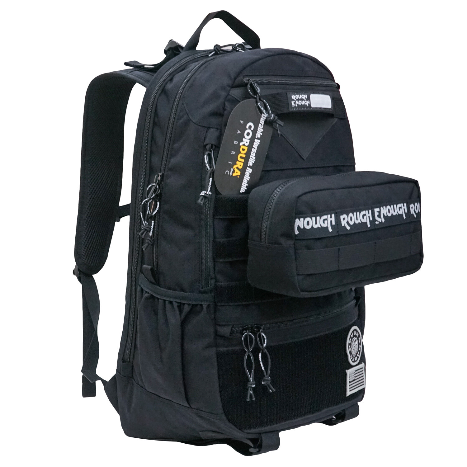 RE8661 Black 20L Tactical Military Molle Backpack Laptop Travel Rucksack