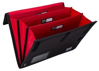 RE8437-Black Accordion Expanding File Folders-3 PCS