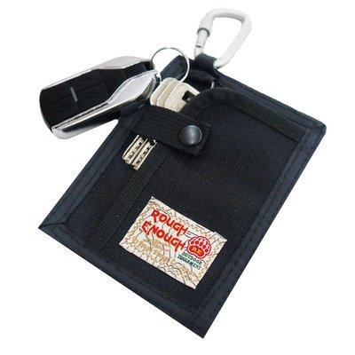 Rough Enough Slim Key Rings For Car Key Fob Case Cover Portable Credit Card Holder