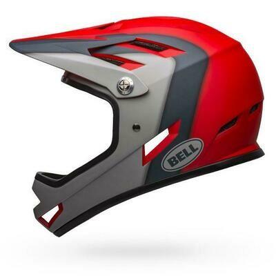Bell Sanction Full Face Helmet - Matt Crimson/Slate/Drak Grey