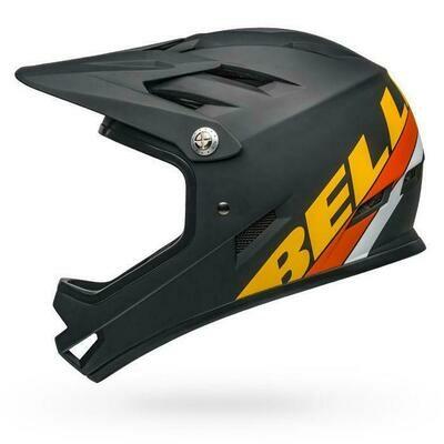 Bell Sanction Full Face Helmet - Matt Black/Yellow/Orange