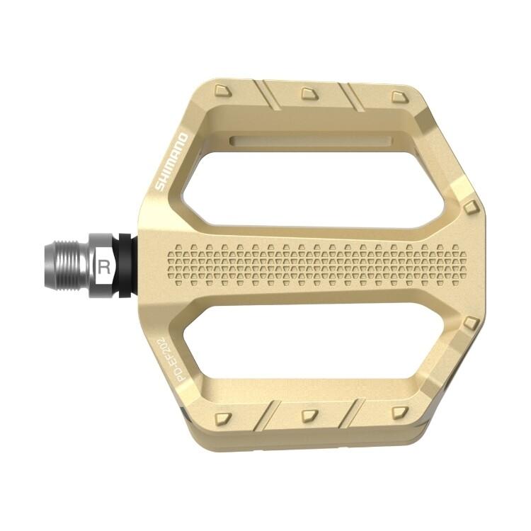 Shimano PD-EF202 Flat Pedal - Gold