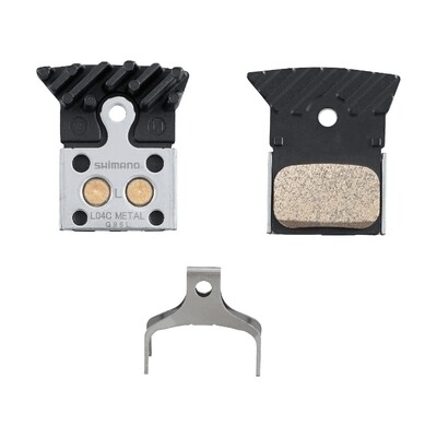 Shimano L04C Disc Brake Pads (FOR FLAT MOUNT BR-RS805, BR-RS505) (METAL) (W/ COOLING) (PAIR)