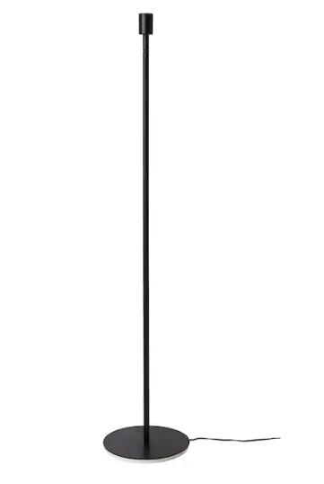 Base per lampada da terra, nero / h 130cm / E27