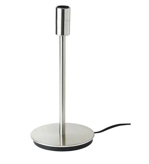Base per lampada da tavolo, nichelato / h 30cm / E14