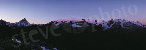 Monte Rosa - tramonto