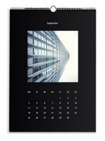 Calendario Moderno nero