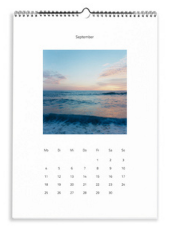 Calendario Moderno bianco