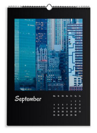 Calendario Elegante nero